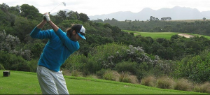 Warren playing Golf in South AFrica